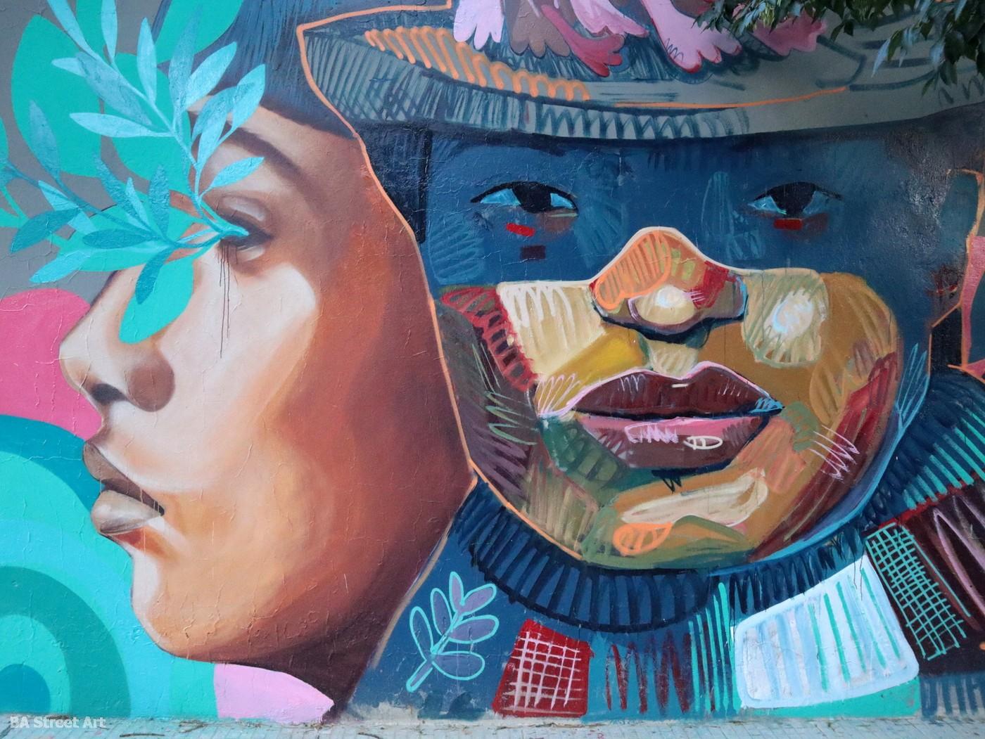 Tikay muralista aner tatu Sebastián Daels muralista buenos aires street art murales