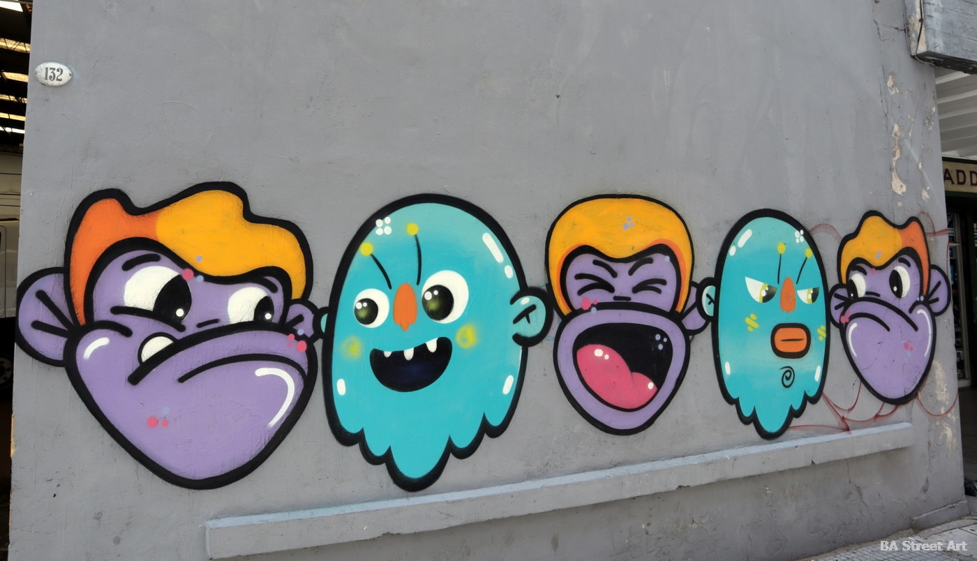 san telmo graffiti tour buenos aires argentina cartoon caracteres arte urbano buenosairesstreetart.com
