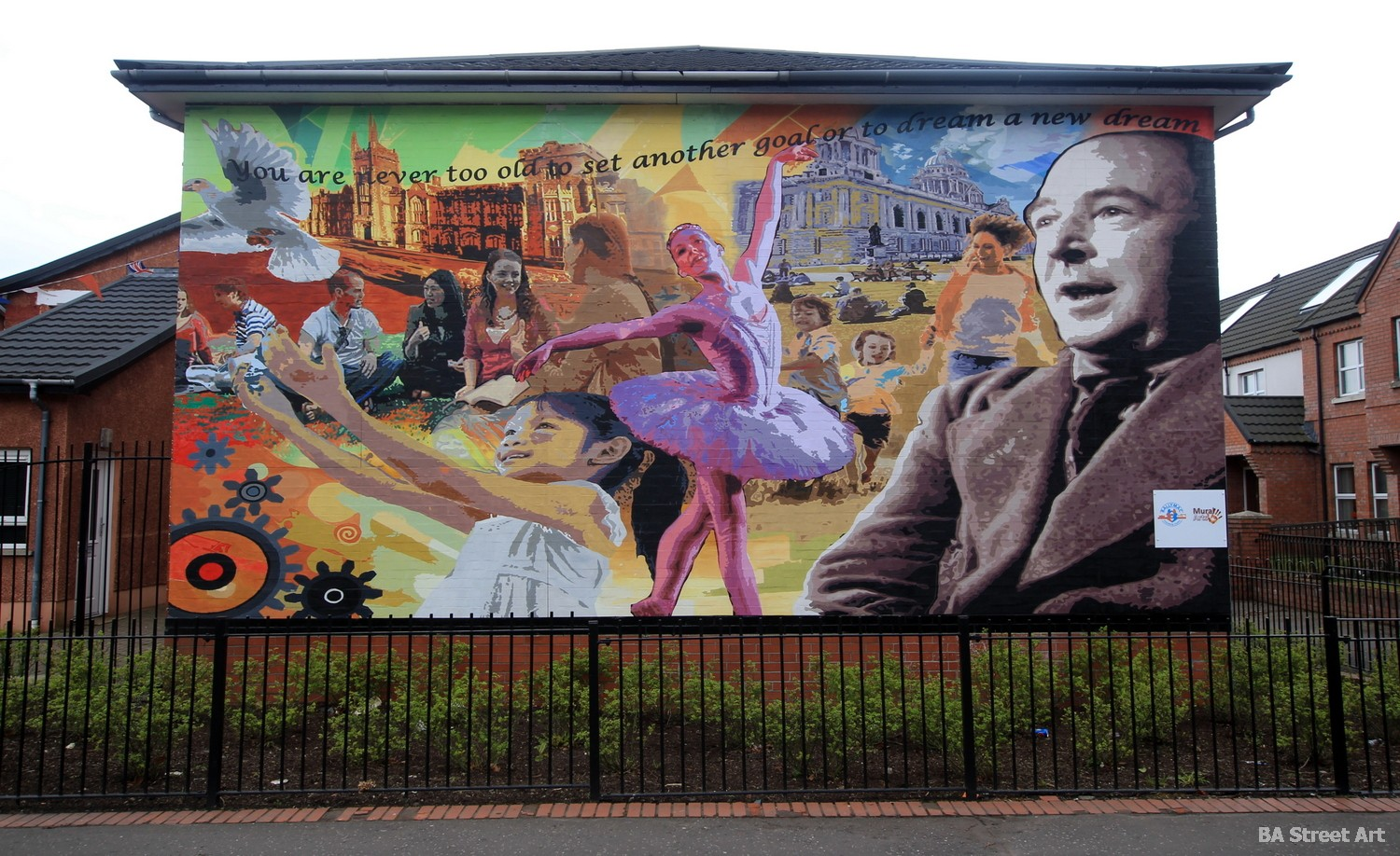 CS Lewis narnia mural belfast northern ireland street art city east belfast