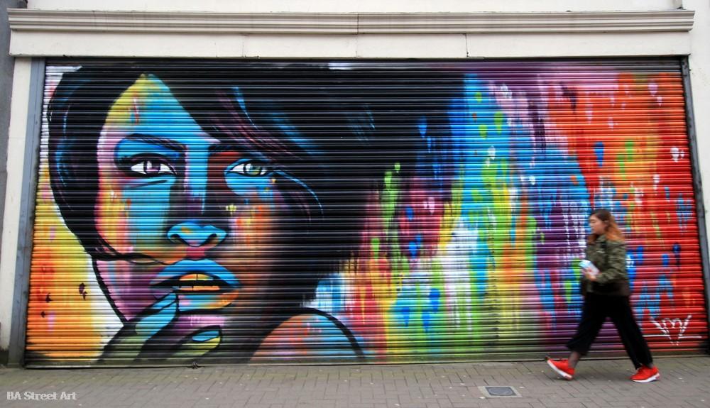 eoin mcginn woman mural colours belfast street art northern ireland cathedral quarter urban art tour graffiti