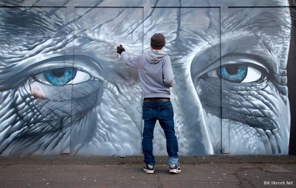 KVLR kev largey belfast graffiti spray artist street art tour mural aerosol car park market