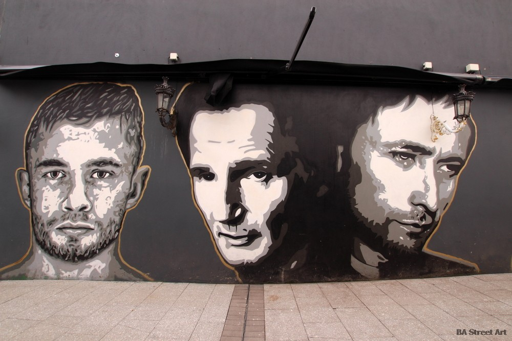 liam neeson mural belfast northern ireland carl frampton neil hannon divine comedy filthy mcnasty's dublin road