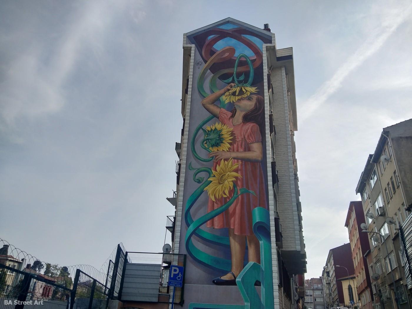 WD mural istanbul turkey graffiti street art festival kadikoy