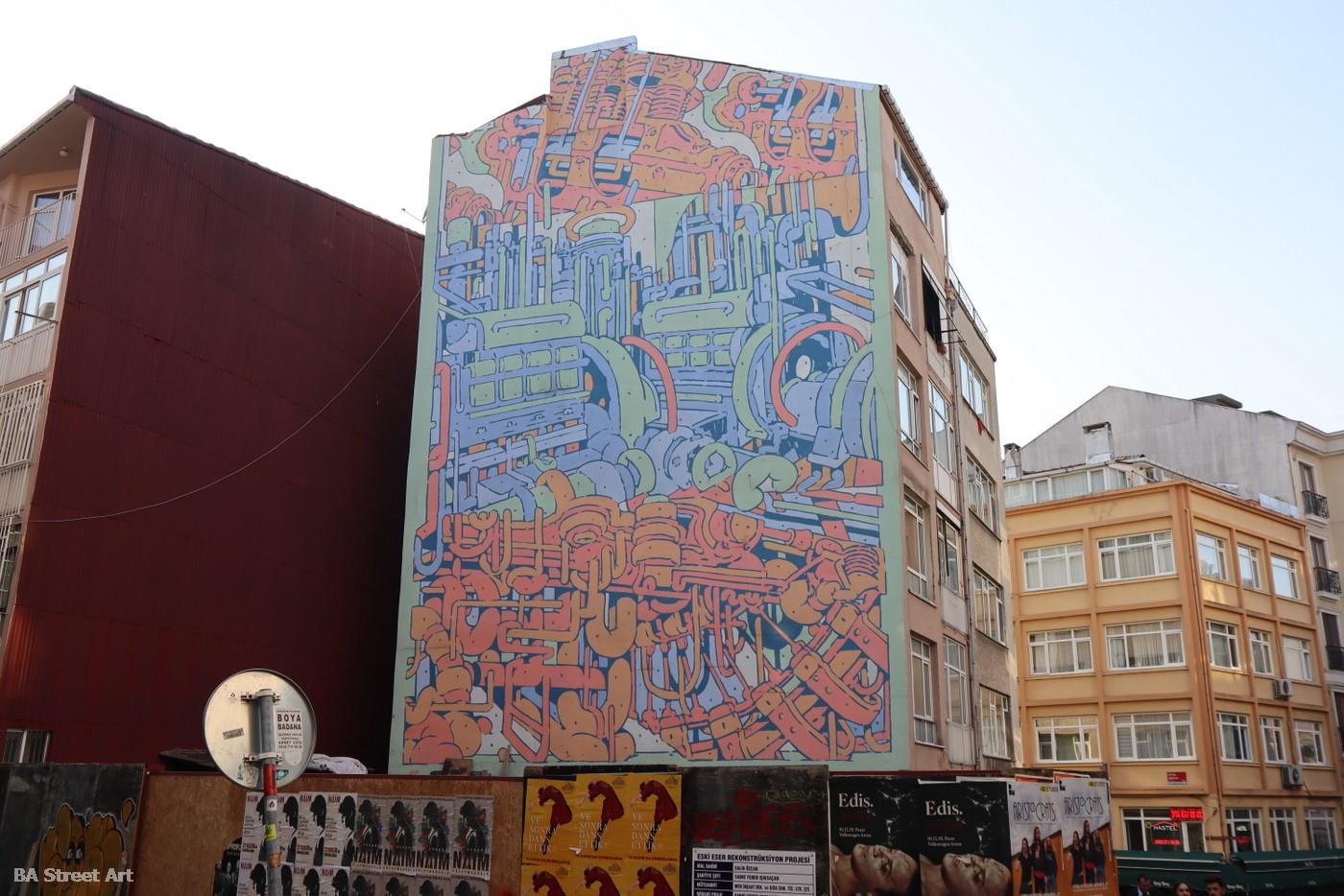 aryz mural istanbul turkey spain barcelona street artist buenosairesstreetart.com