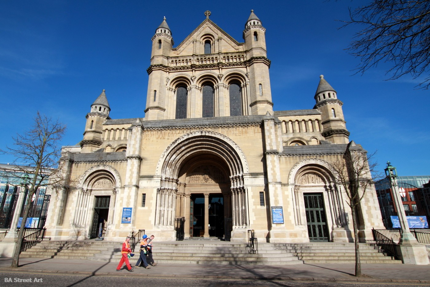 belfast cathedral st anne's cathedral quarter donegall street northern ireland street art facade main entrance