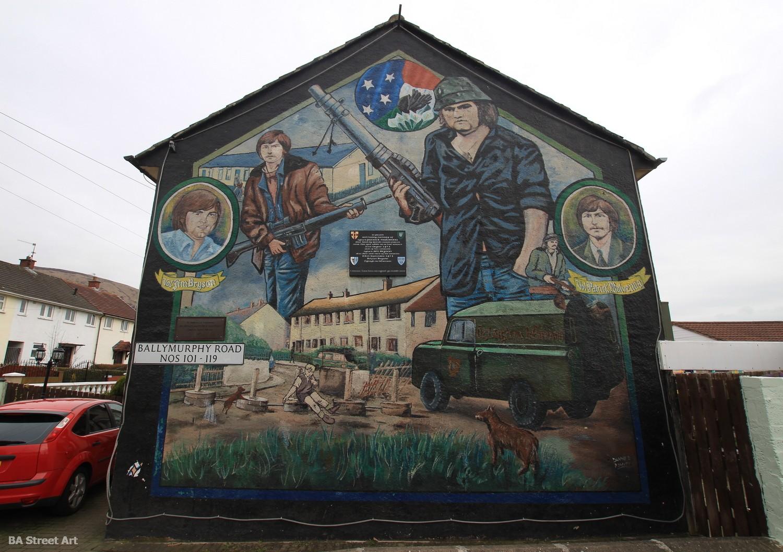 ballymurphy IRA mural jim bryson paddy mulvenna gable republican volunteers propaganda