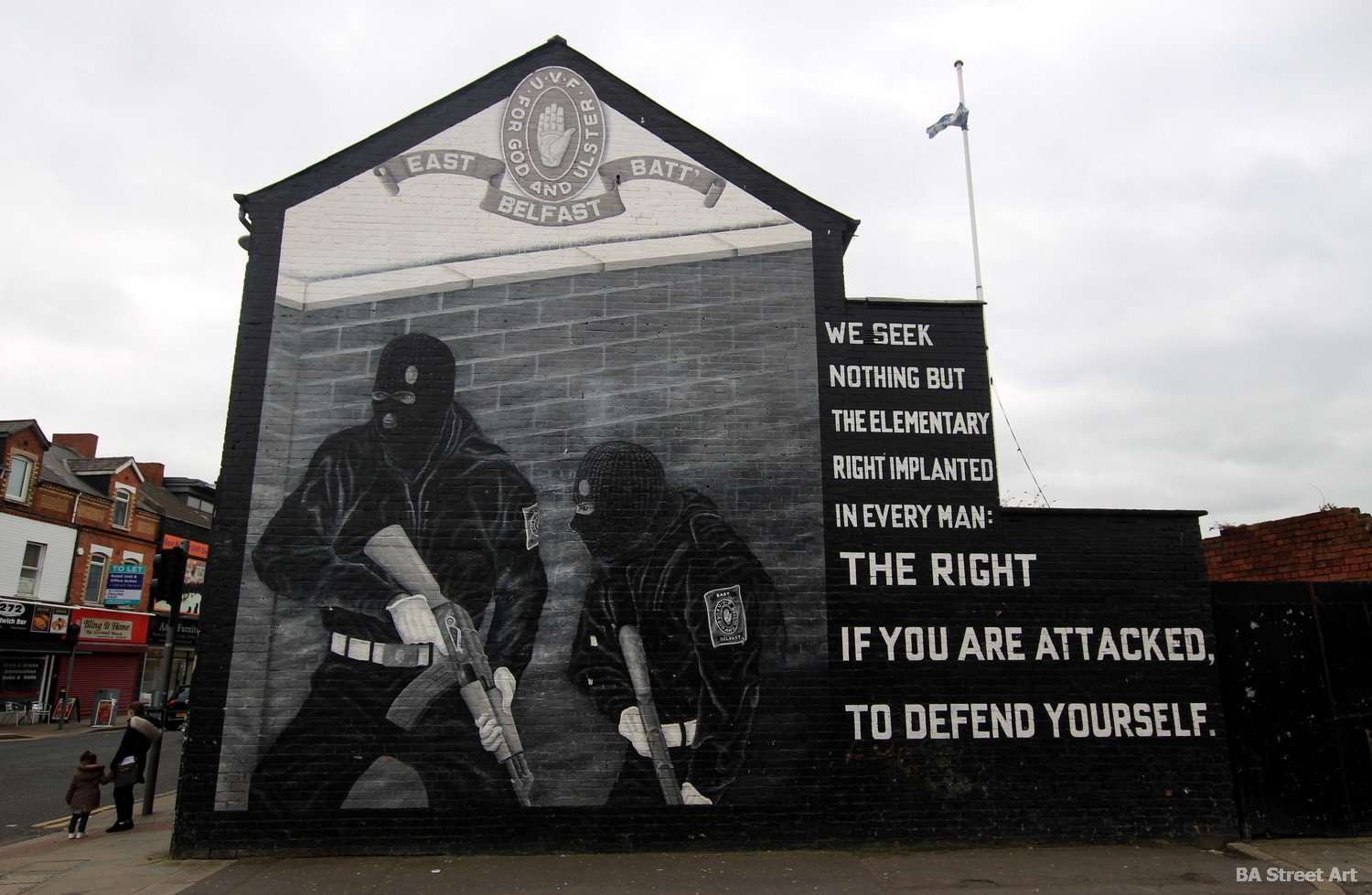 belfast protestant mural political paramilitary UVF east battalion tour ulster