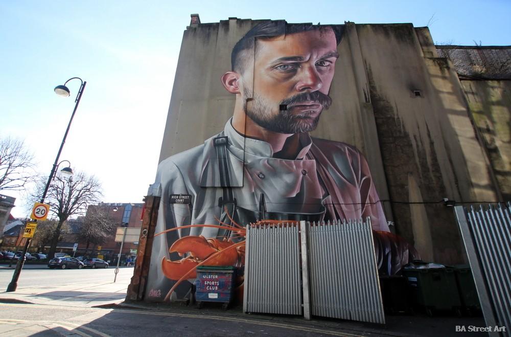 smug mural belfast street art tour festival graffiti tour northern ireland australian artist