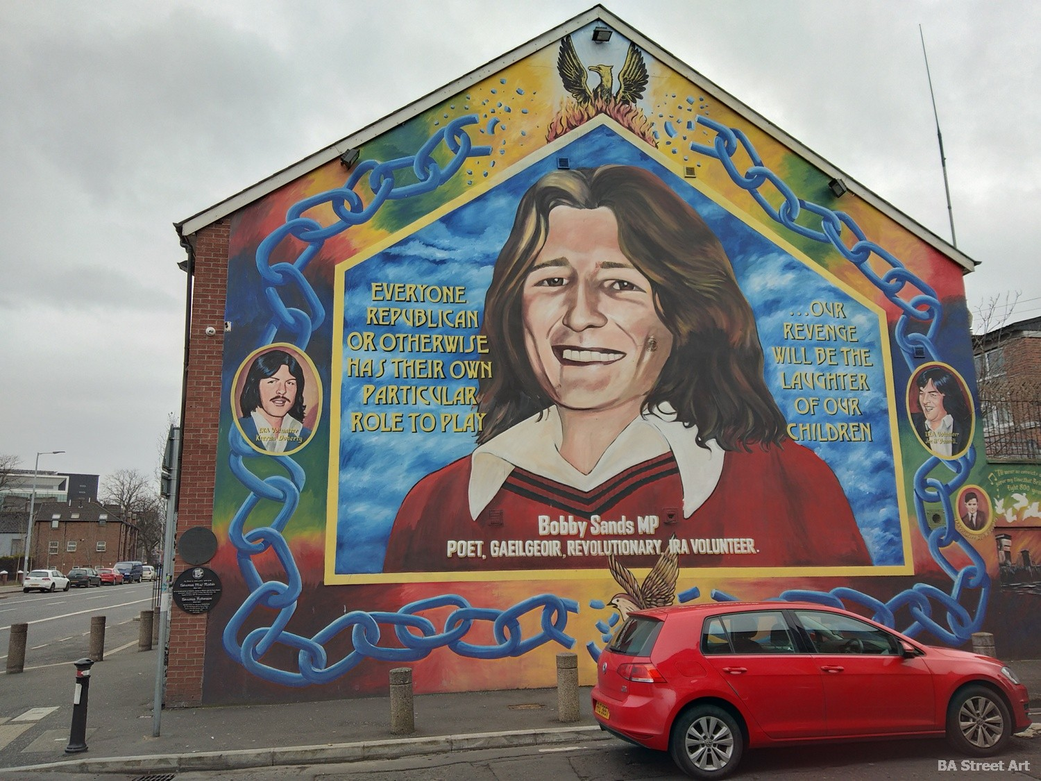 bobby sands mural falls road belfast hunger striker catholic IRA republican mural prisoner