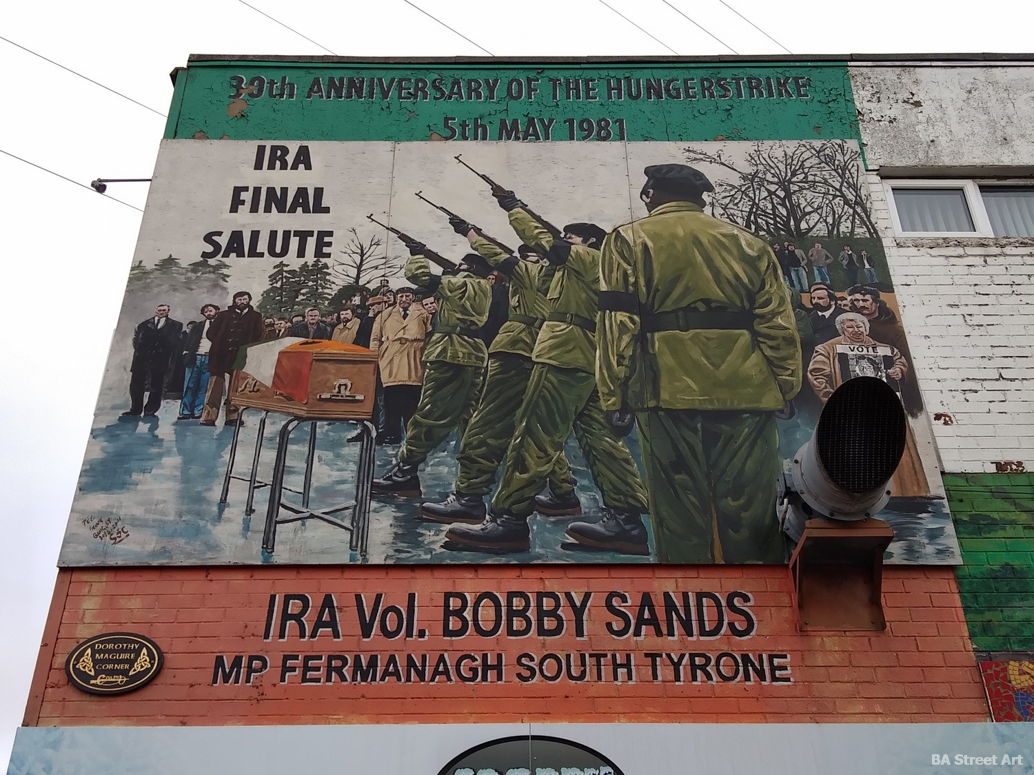Bobby Sands IRA mural final salute mural may 1981 south tyrone