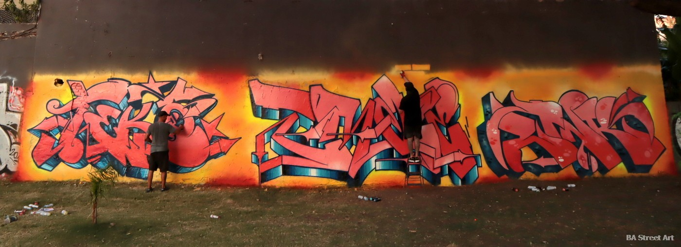 graffiti artists pieces burners bombing buenos aires argentina capital federal pared