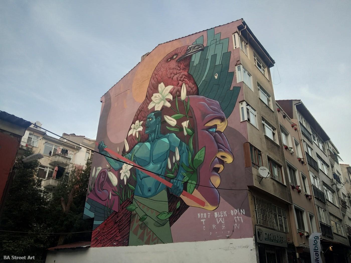 kadikoy street art istanbul murals graffiti tour the writer material blek brot odin