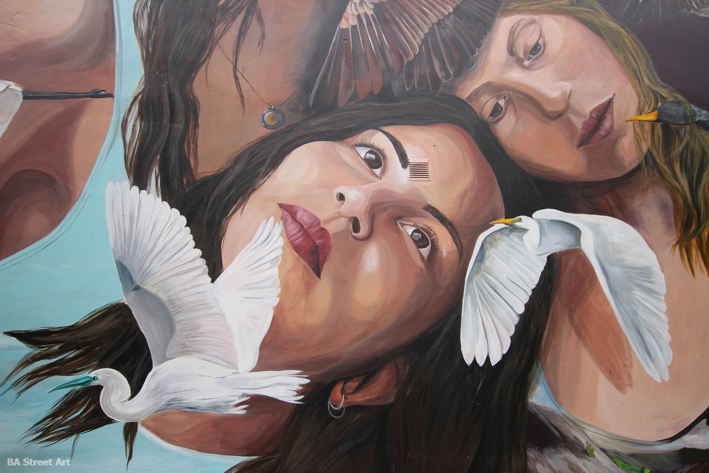 mabel vincentef mujeres retratos murales feminisimo derechos de mujeres arte urbano naturaleza mural buenos aires argentina