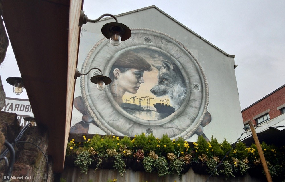 nomad clan mural belfast wolf ship building still waters tour northern ireland cathedral quarter