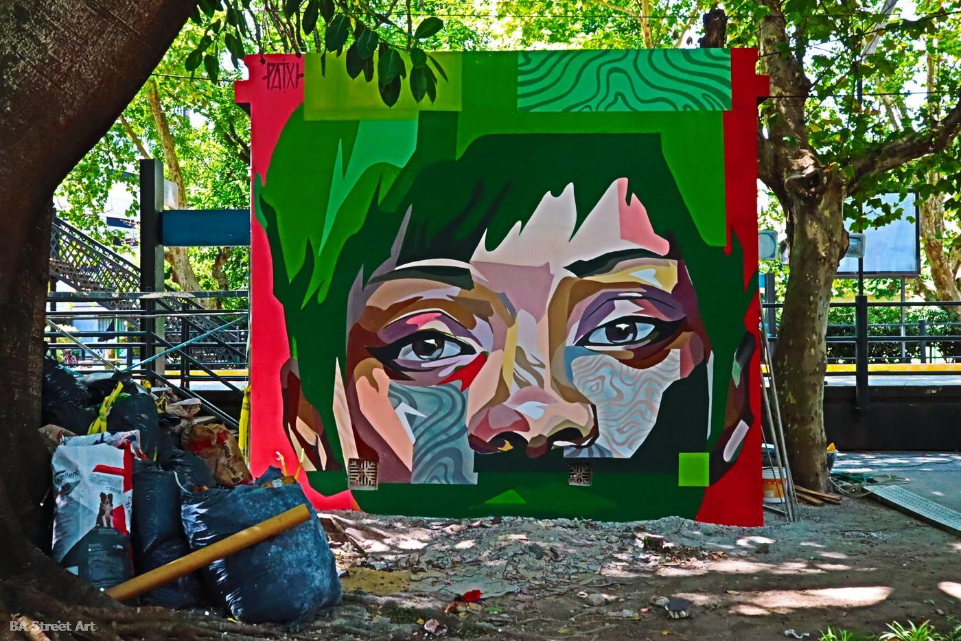 woman mural retrato portrait mujer buenos aires patxi artista