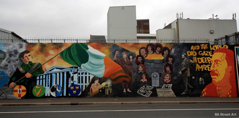 peace wall belfast easter uprising stormont republican mural kieran nugent ireland falls road