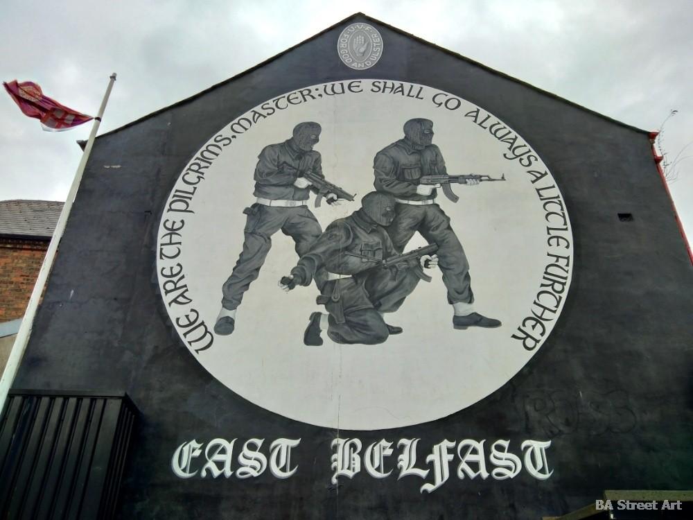 UVF mural ulster east belfast northern ireland troubles propaganda murales