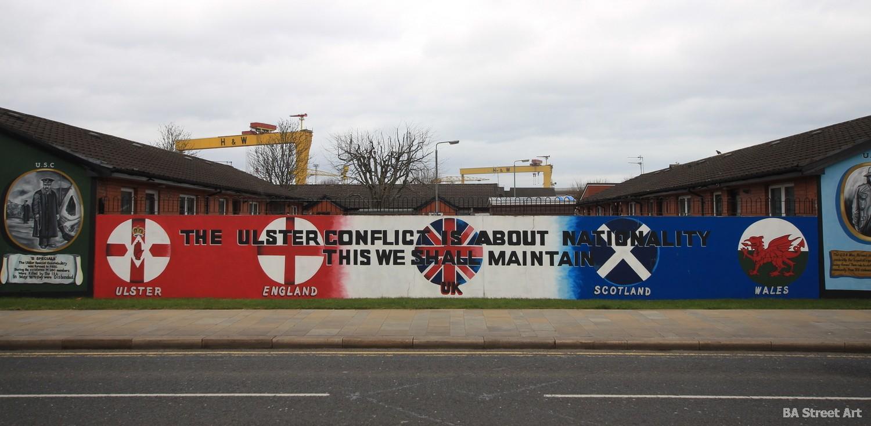 unionist mural loyalist propaganda tour northern ireland ulster east belfast
