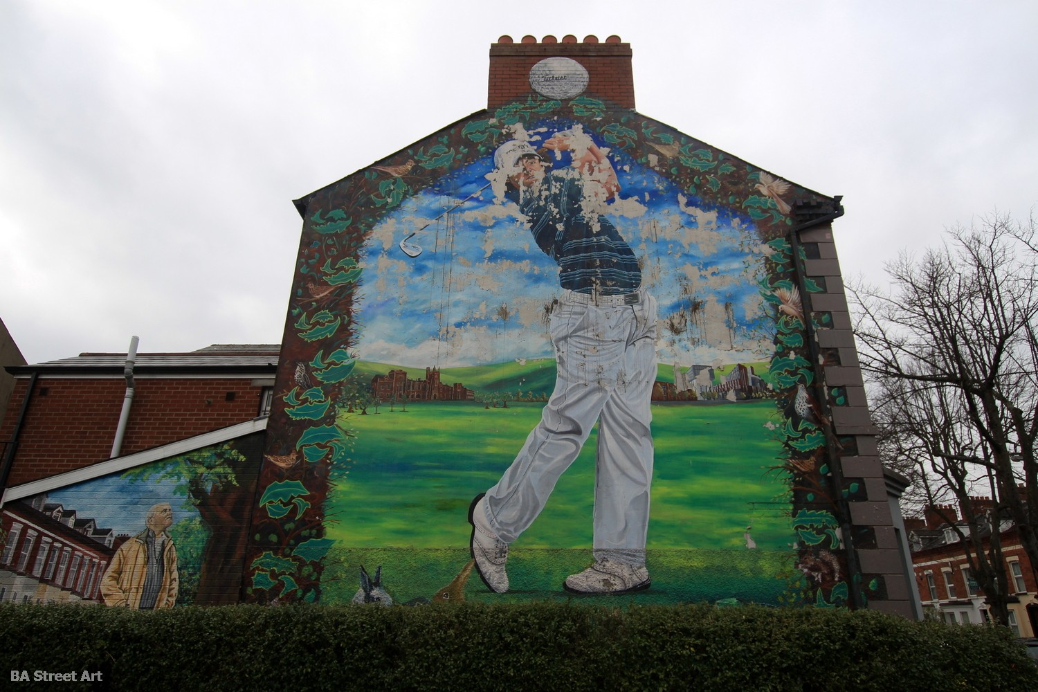 Rory McIlroy mural belfast holyland gable northern ireland golfer golf street art