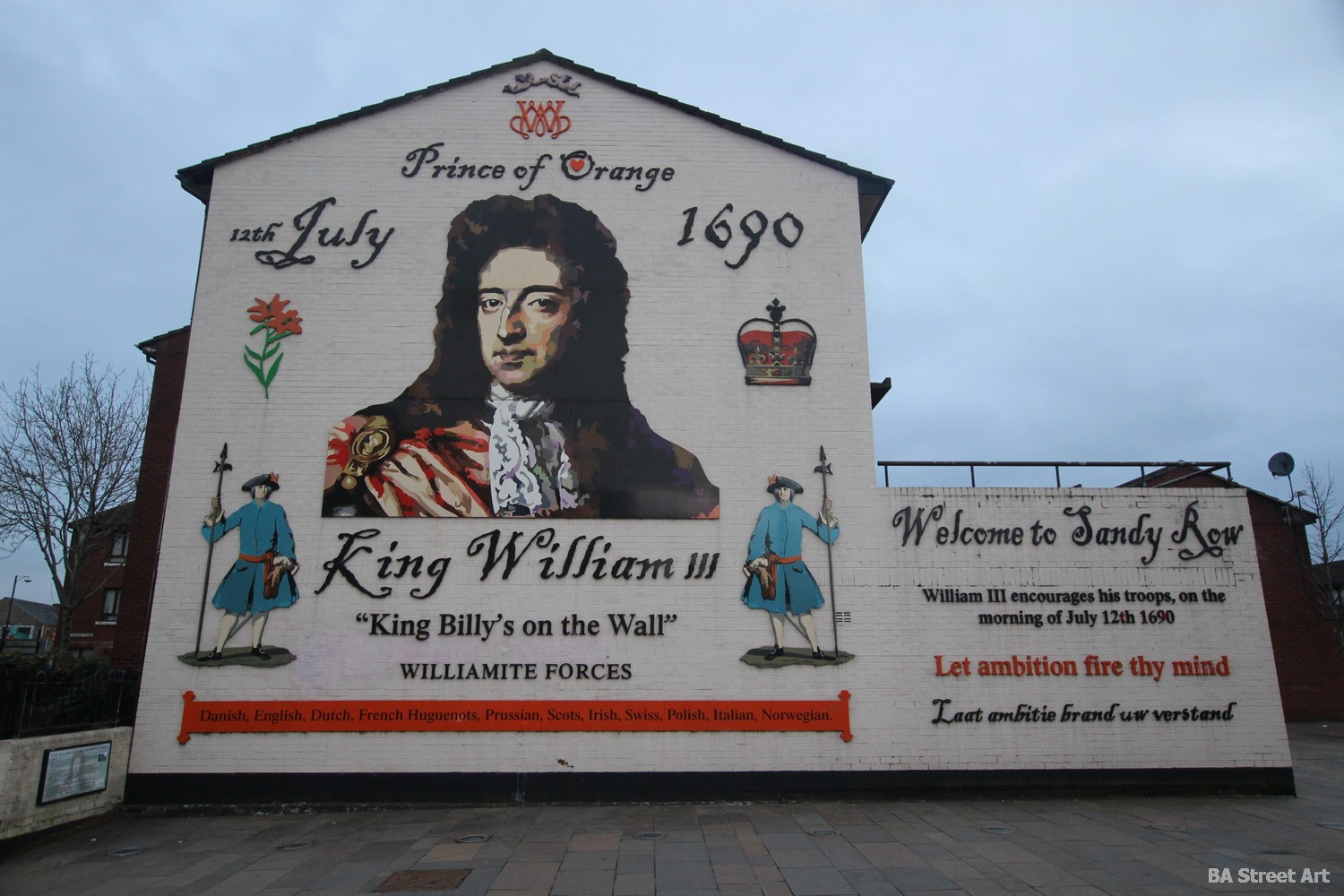 protestant mural belfast william of orange battle of the boyne william III july 1690