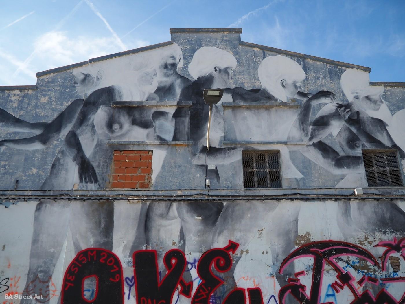 Francisco Bosoletti muralista artista argentino artist mural valencia el cabanyal figuras retratos barrio españa arte urbano buenosairesstreetart.com