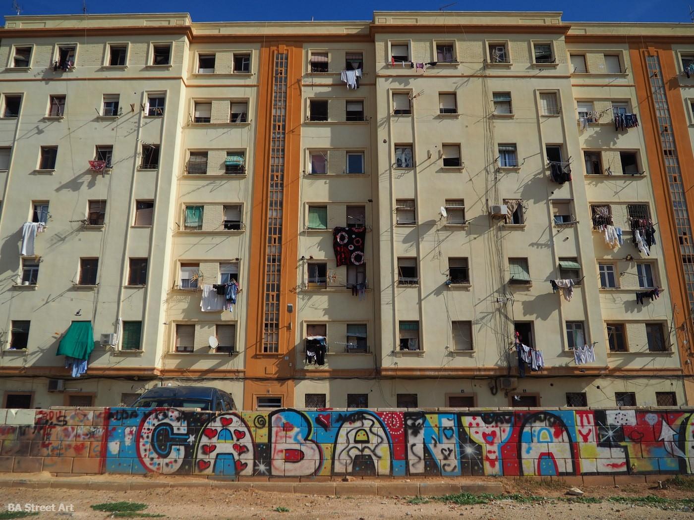 cabanyal barrio valencia españa neighborhood spain mural street art graffiti arte urbano playa nombre name