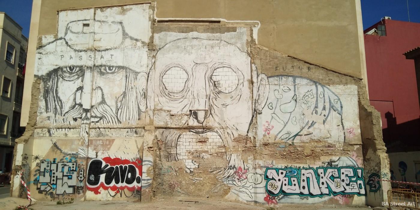 cabanyal graffiti valencia street art mural Collettivo XF Nemo Julieta XLF Barbi graffiti colectivo
