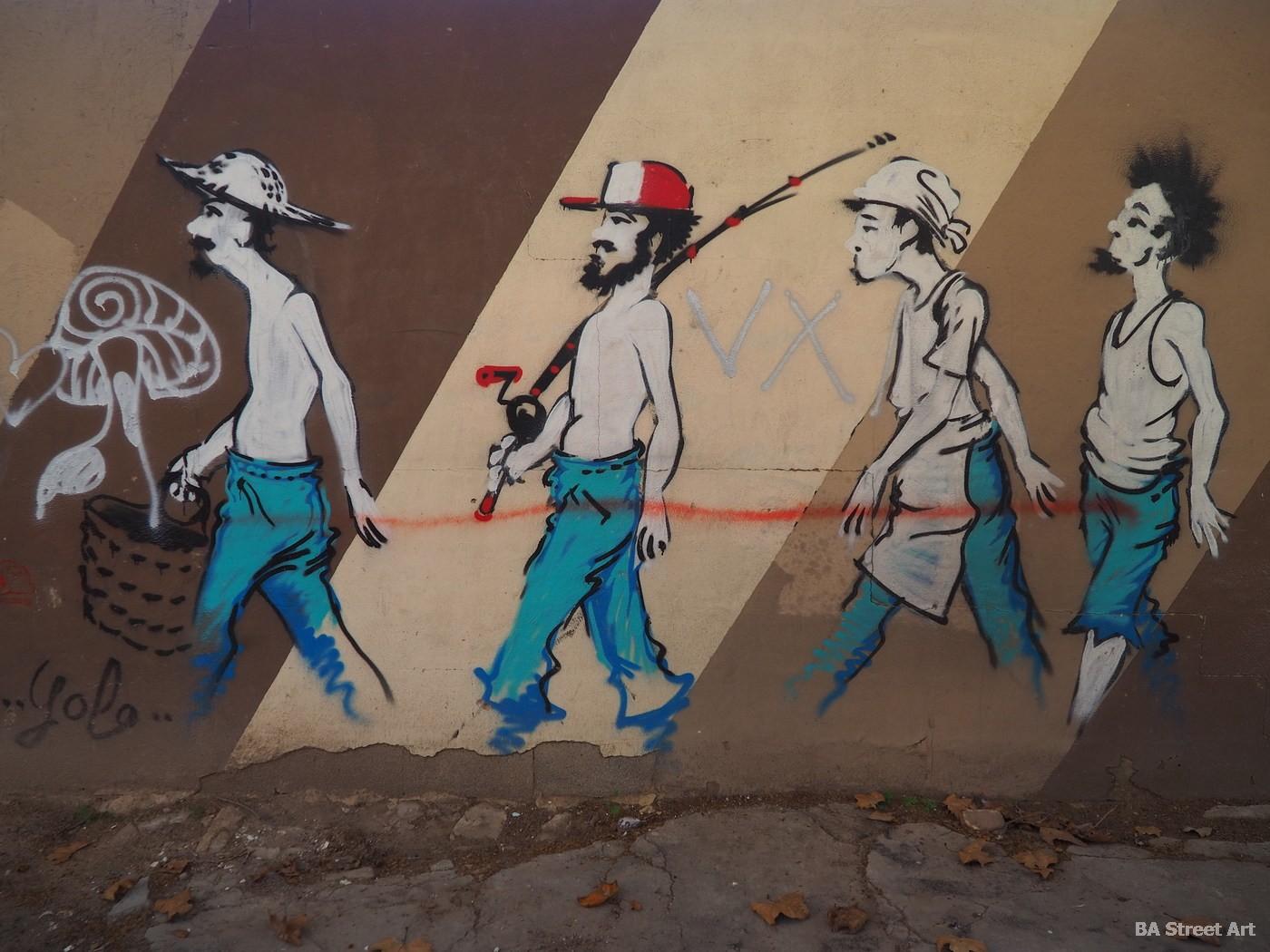 lolo mural arte urbano artista fishermen valencia cabanyal pescadores arte callejero buenosairesstreetart.com