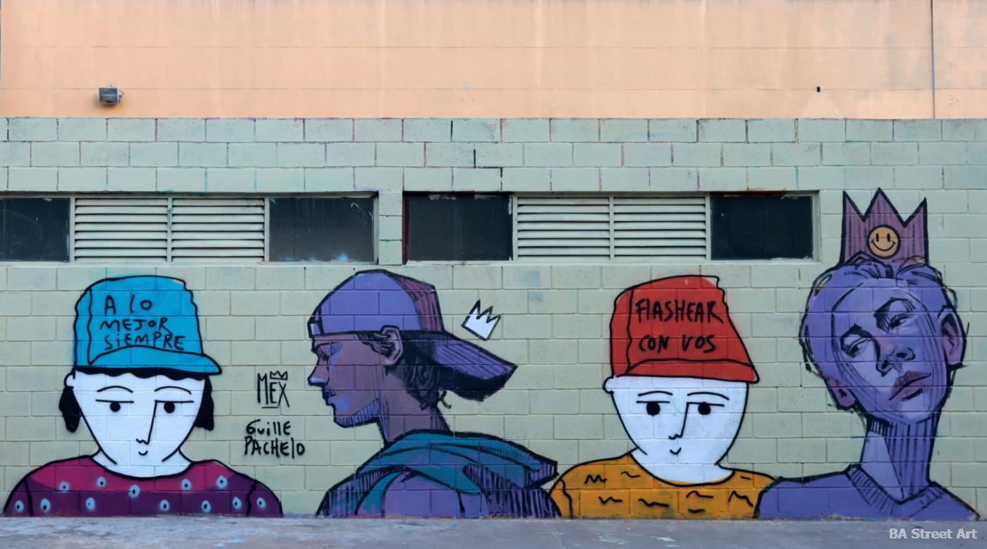 guille pachelo arte street art colegiales buenos aires arte urbano mex caracteres frases