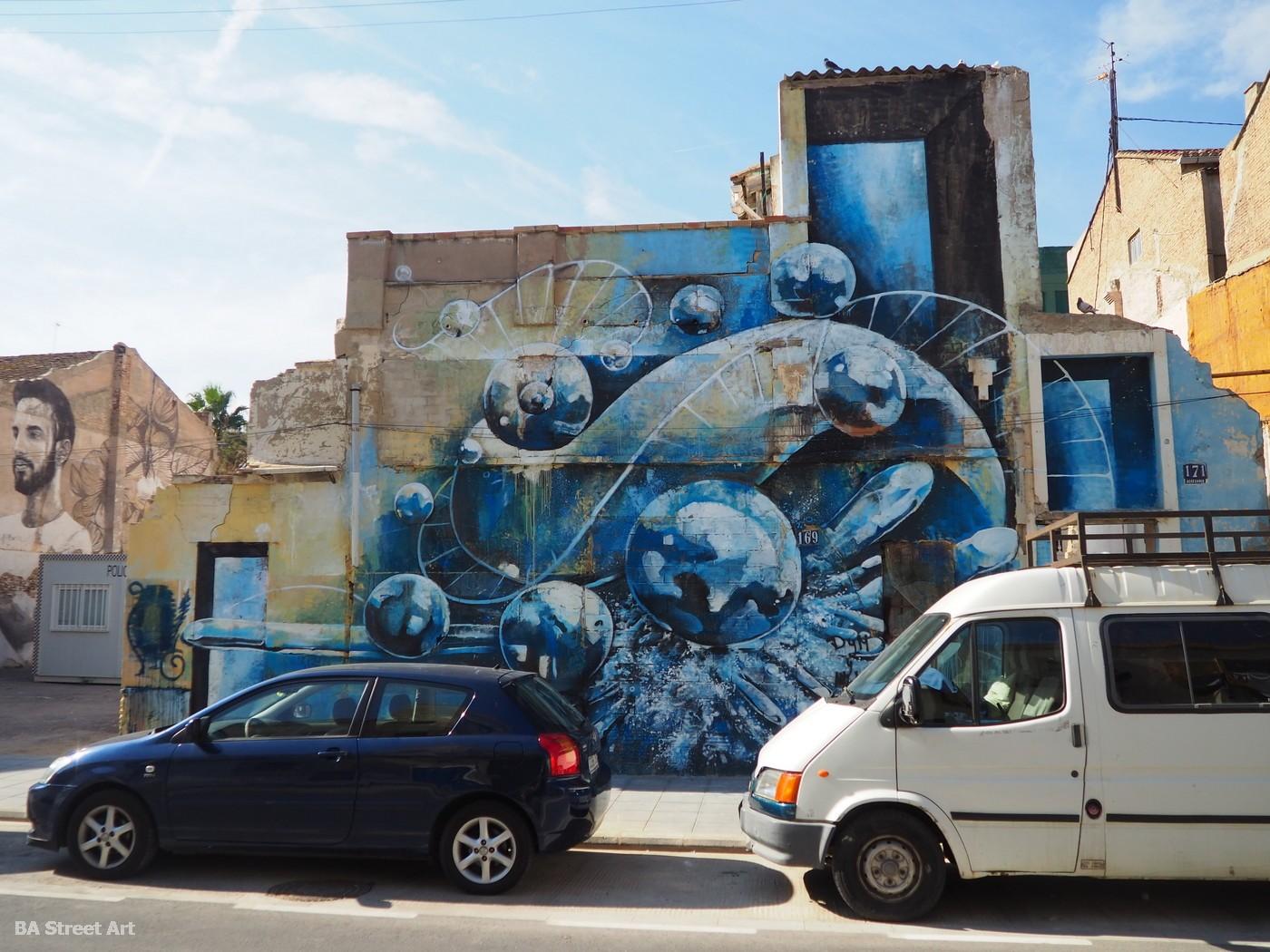 murales arte urbano el cabanyal valencia grafiti murais fresque peinture