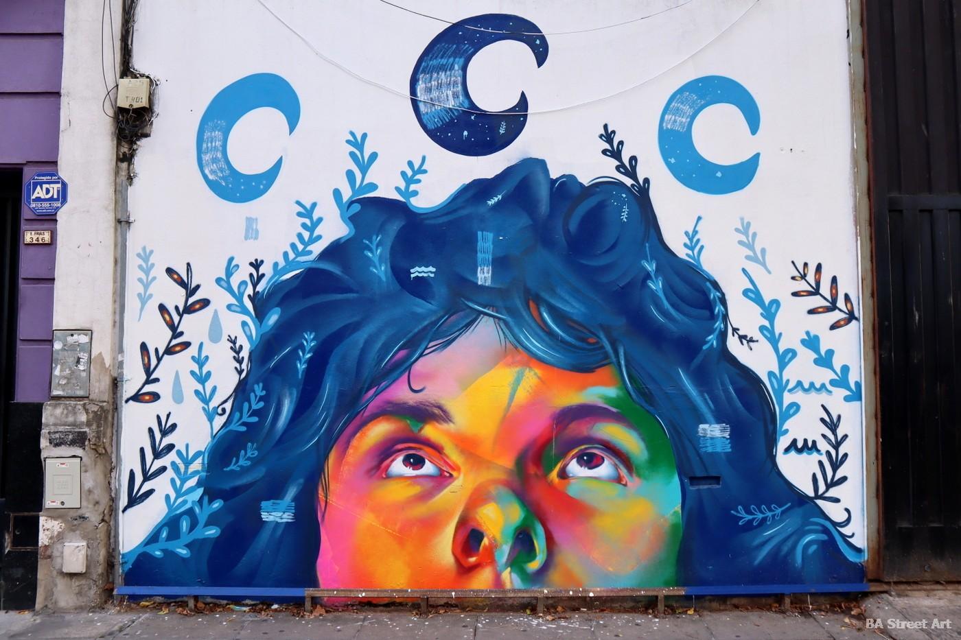 murales retrato artista argentina cara pinceles artista plastico urbano portrait buenos aires villa crespo pared muro