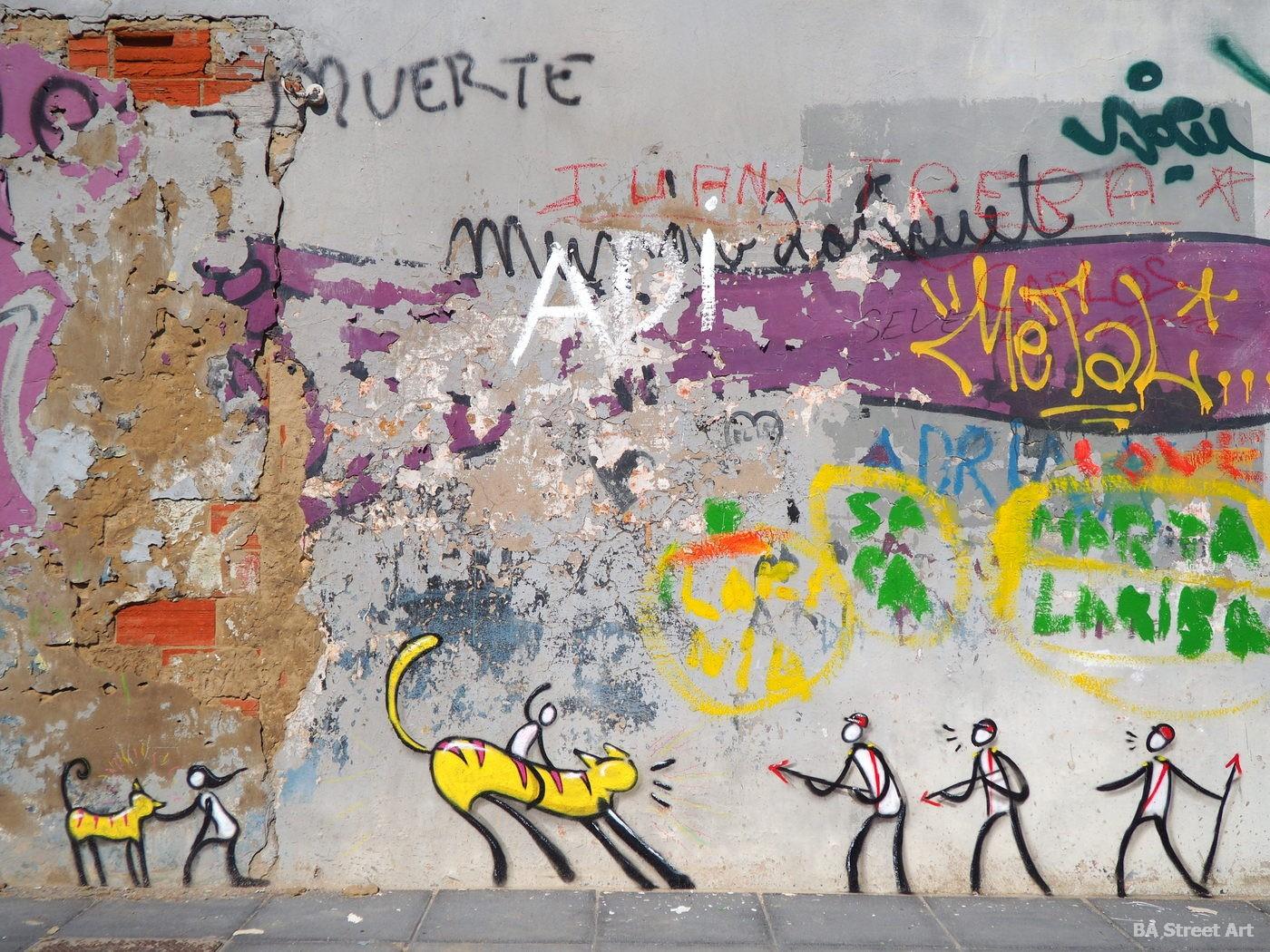 valencia Cabañal-Cañamelar cabanyal murales arte urbano figuras dibujos tour graffiti playa beach españa buenosairesstreetart.com